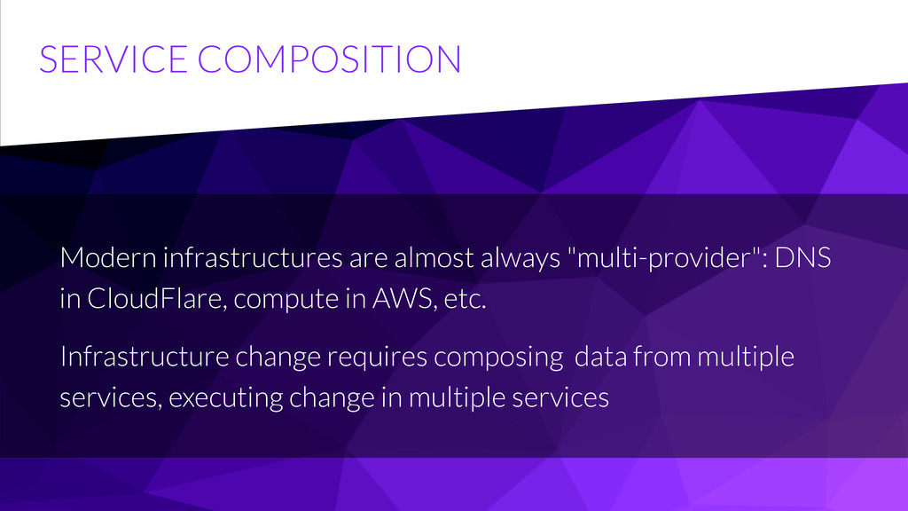 SERVICE COMPOSITION Modern infrastructures are ...
