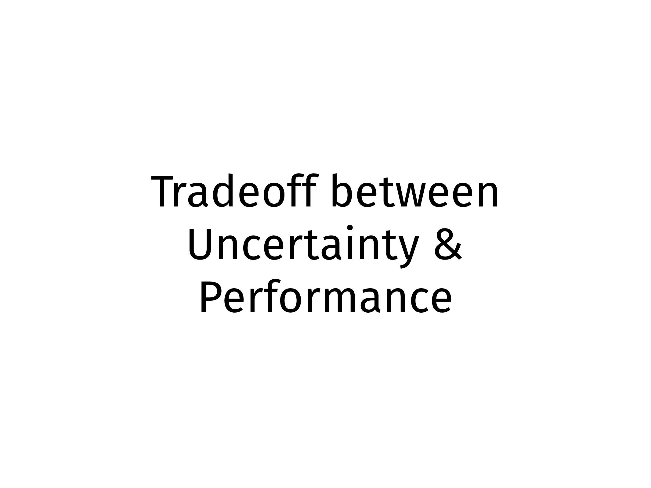 Tradeoff between Uncertainty & Performance