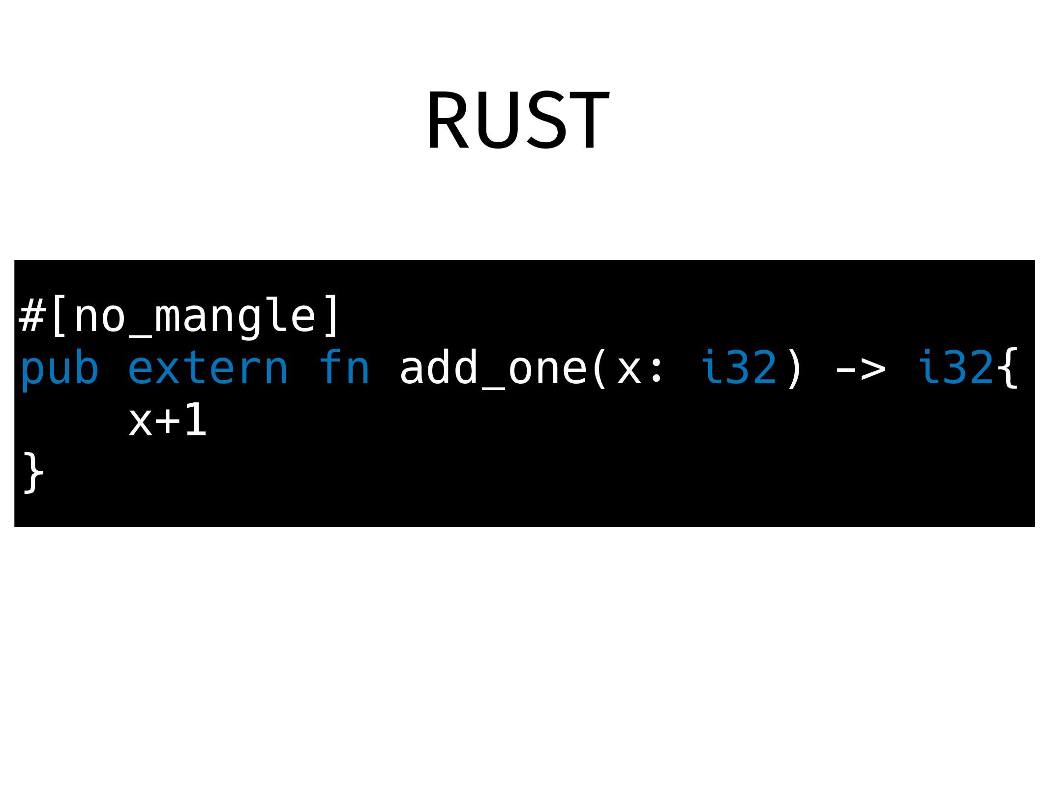 #[no_mangle] pub extern fn add_one(x: i32) -> i...