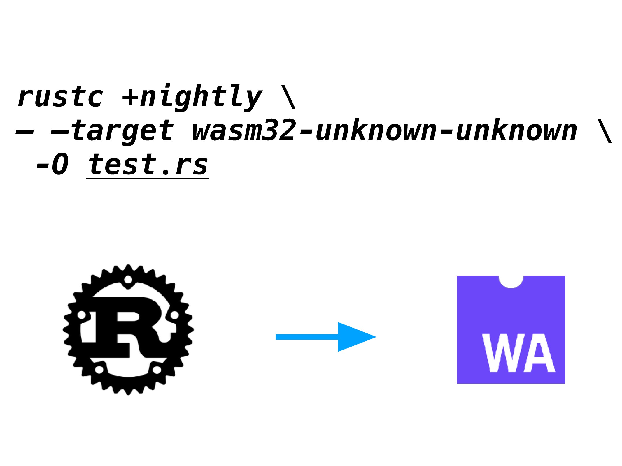 rustc +nightly \ — —target wasm32-unknown-unkno...