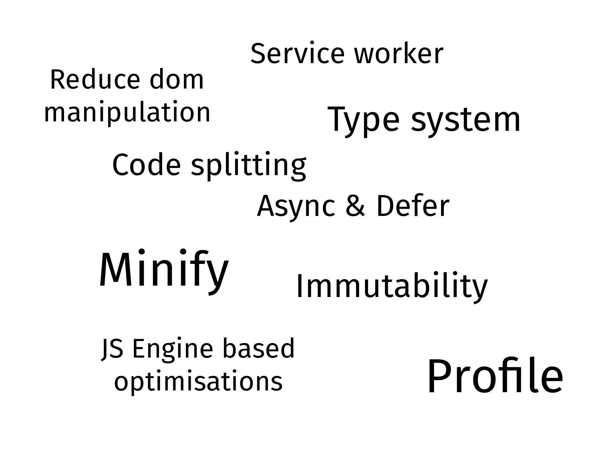 Minify Async & Defer Reduce dom manipulation Pr...