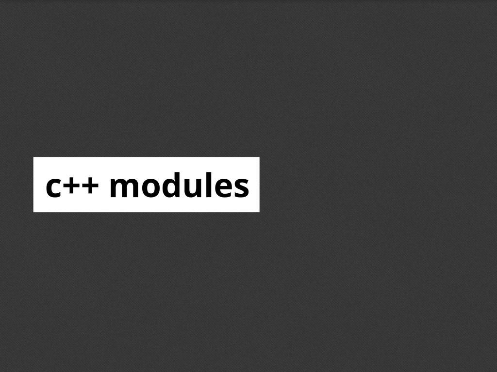 c++ modules