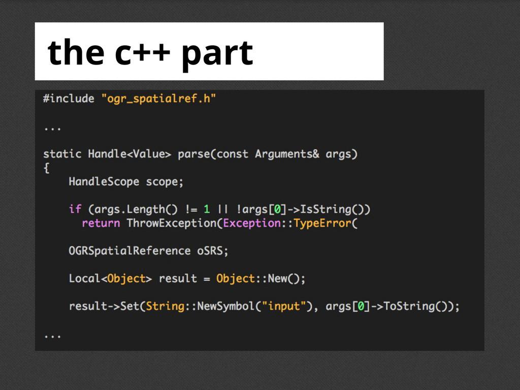 the c++ part