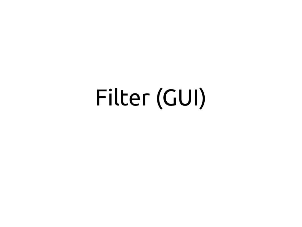 Filter (GUI)