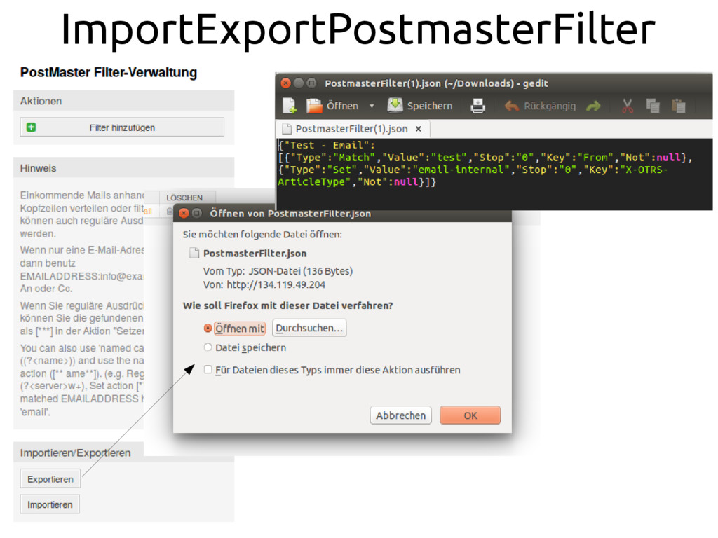 ImportExportPostmasterFilter