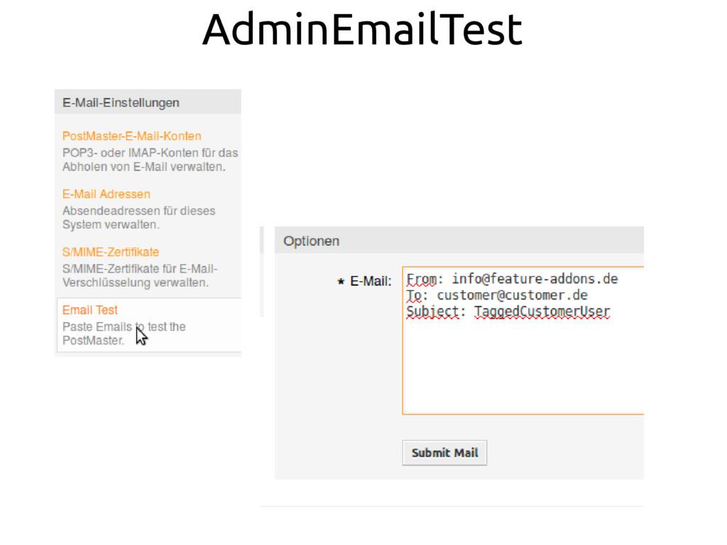 AdminEmailTest