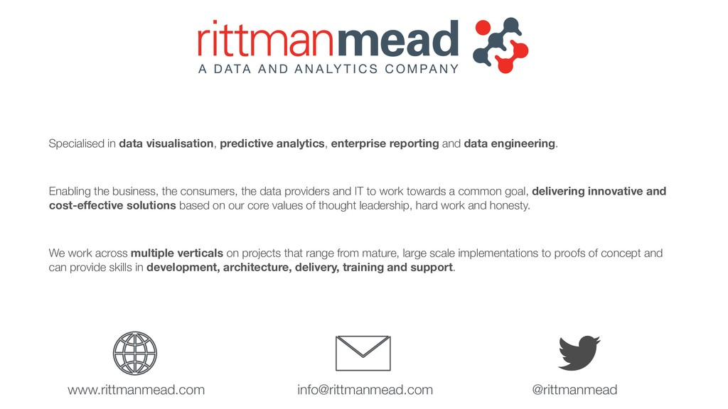 Specialised in data visualisation, predictive a...
