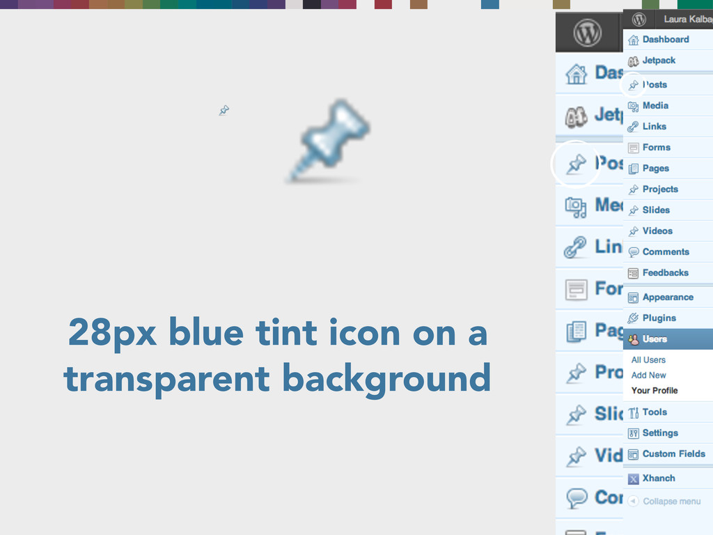 28px blue tint icon on a transparent background