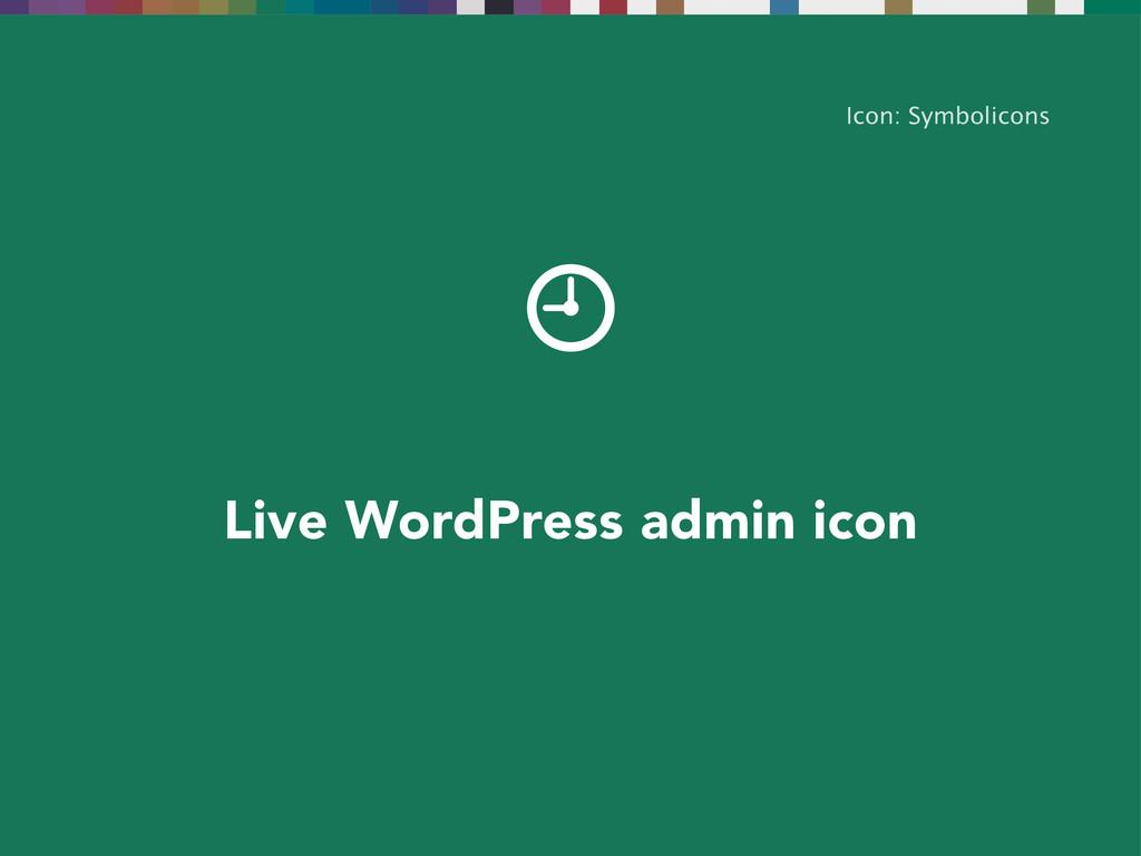 Icon: Symbolicons Live WordPress admin icon