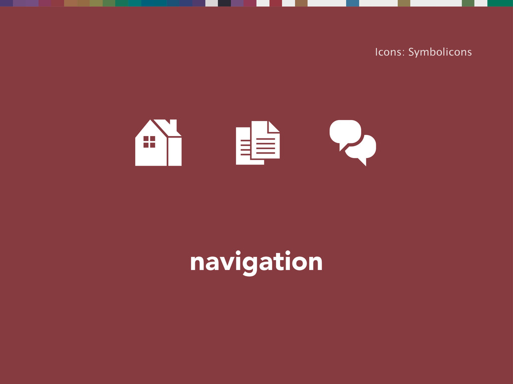 navigation Icons: Symbolicons