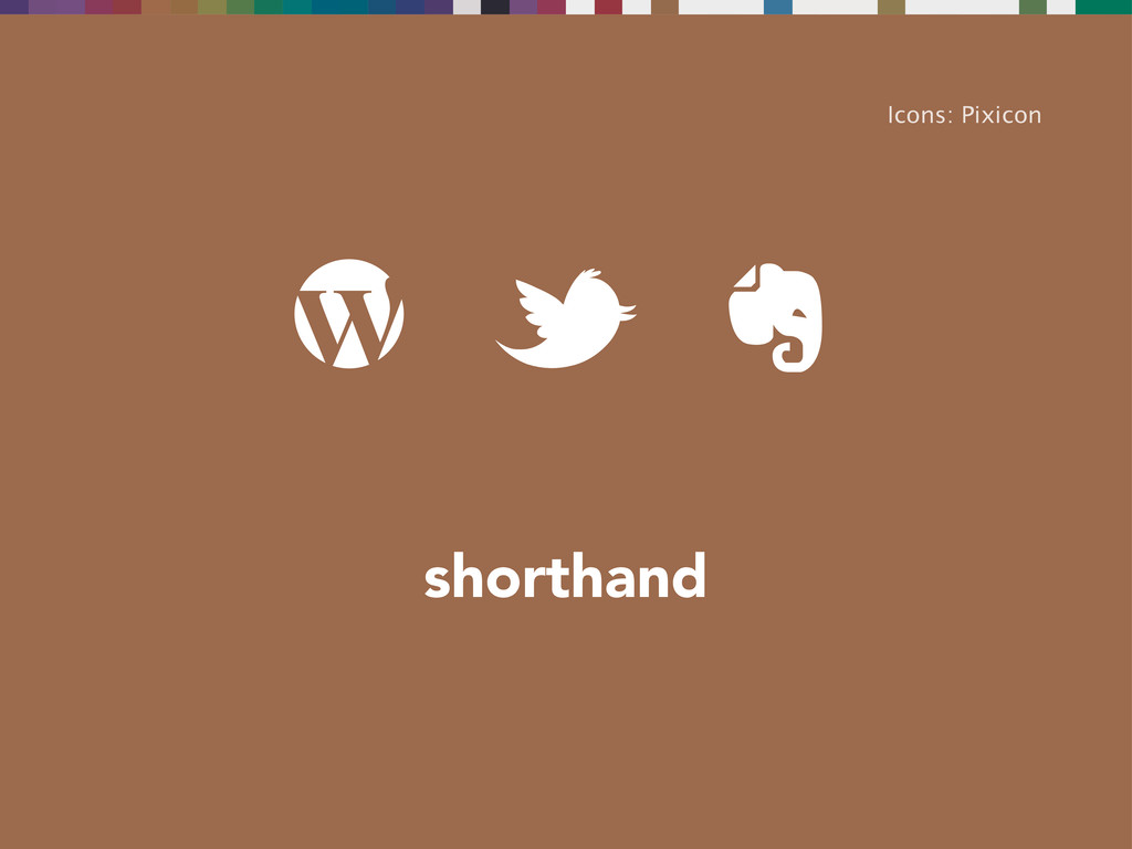shorthand Icons: Pixicon