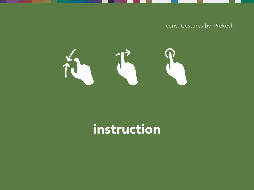 instruction Icons: Gestures by Prekesh