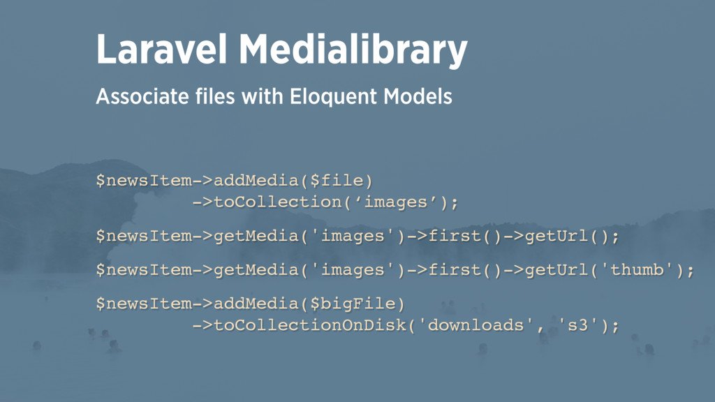 Associate files with Eloquent Models Laravel Med...