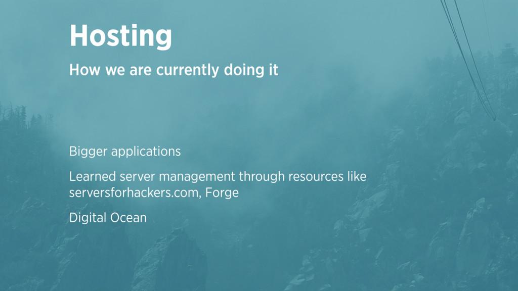 Bigger applications Learned server management t...