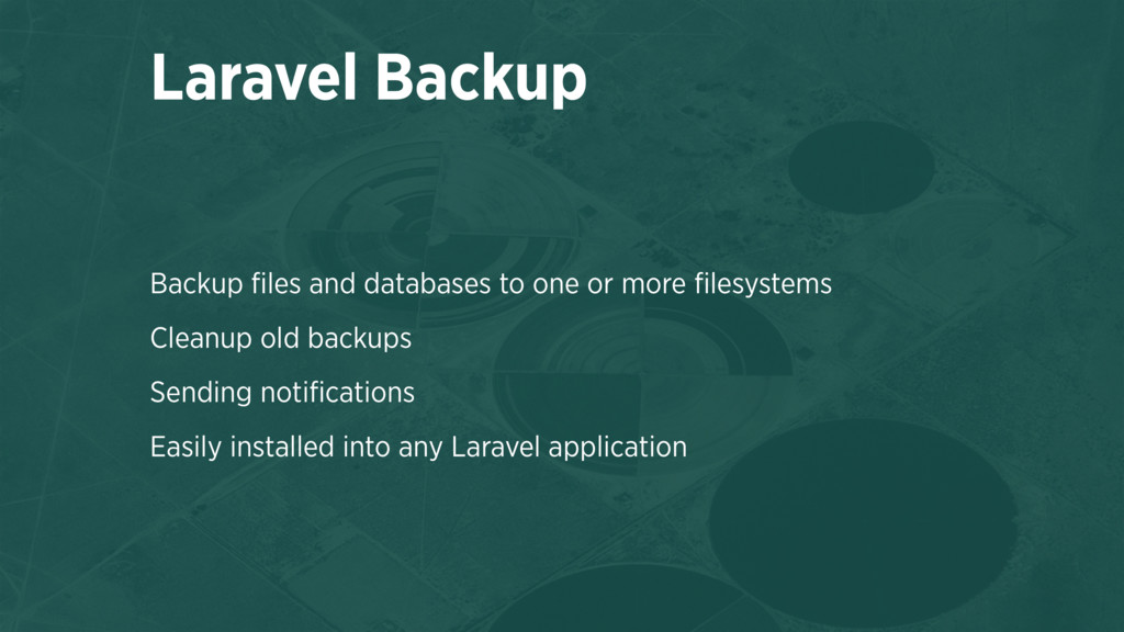 Backup files and databases to one or more filesys...
