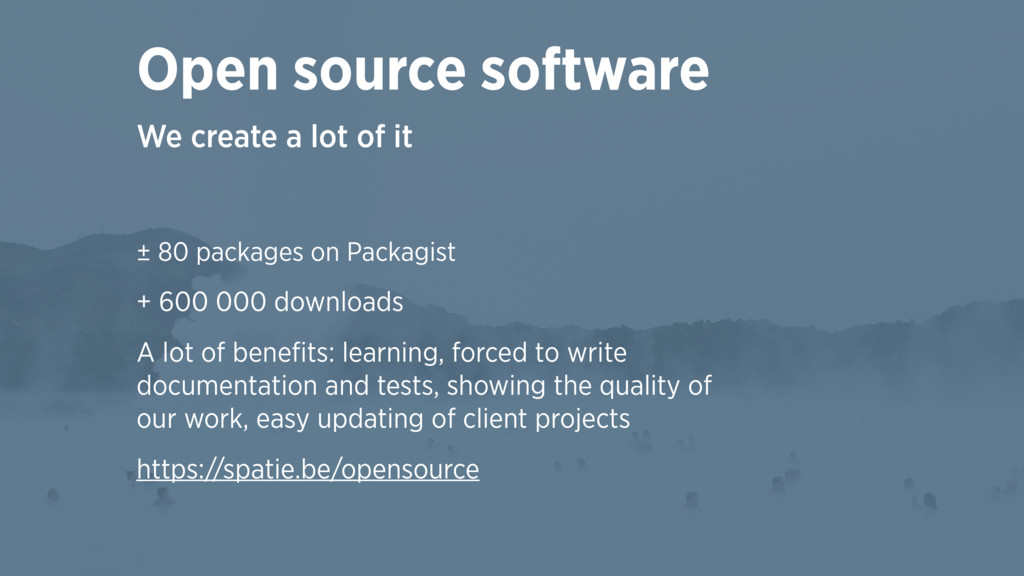 ± 80 packages on Packagist + 600 000 downloads ...
