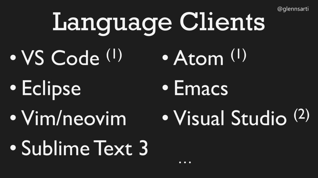 @glennsarti Language Clients • VS Code (1) • Ec...