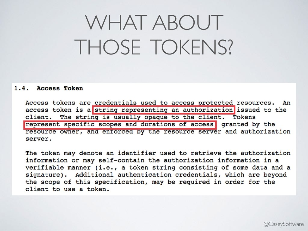 WHAT ABOUT THOSE TOKENS? @CaseySoftware