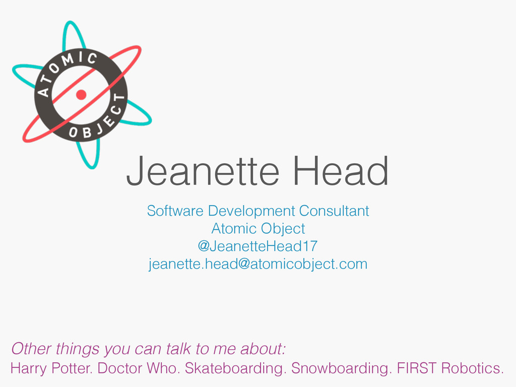 Jeanette Head Software Development Consultant A...