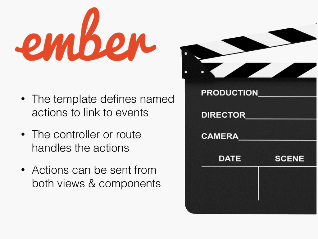 • The template defines named actions to link to ...