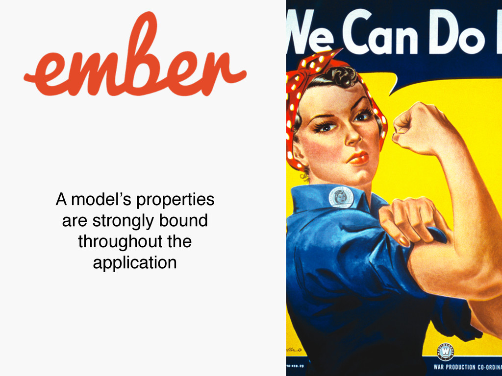 A model's properties are strongly bound through...
