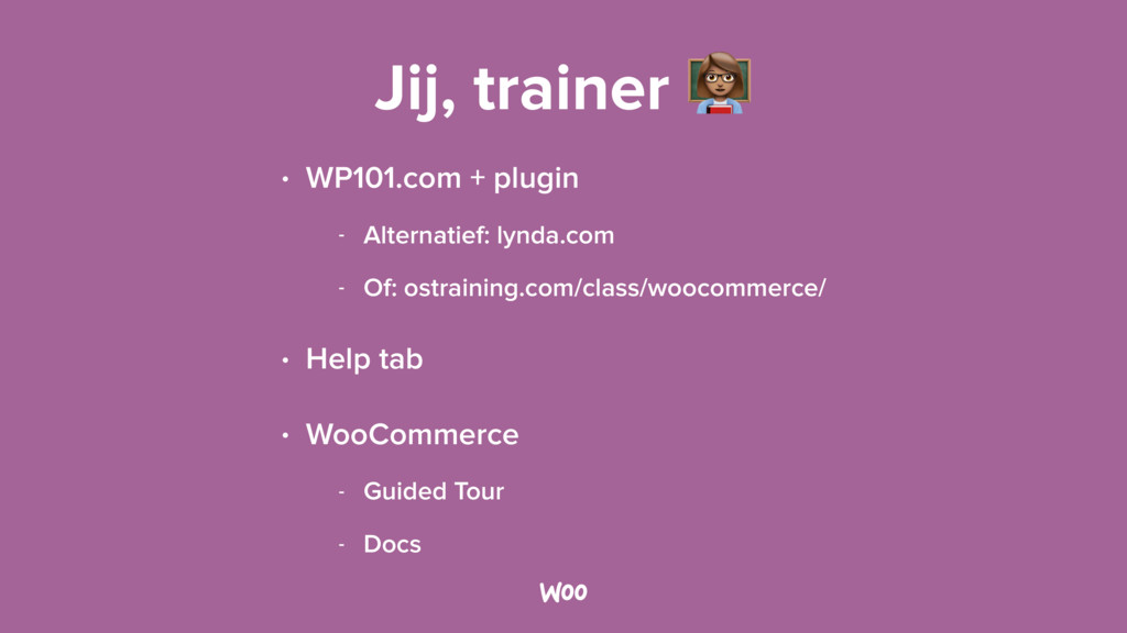 Jij, trainer & • WP101.com + plugin - Alternati...