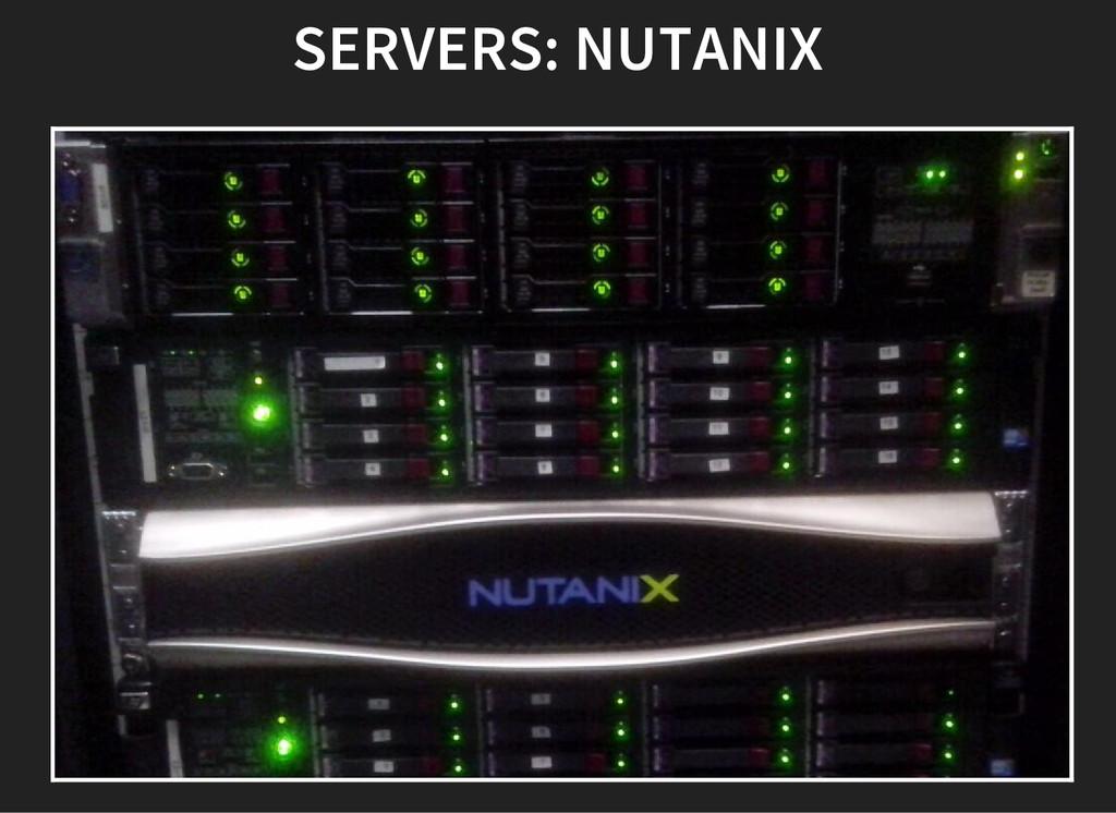 SERVERS: NUTANIX