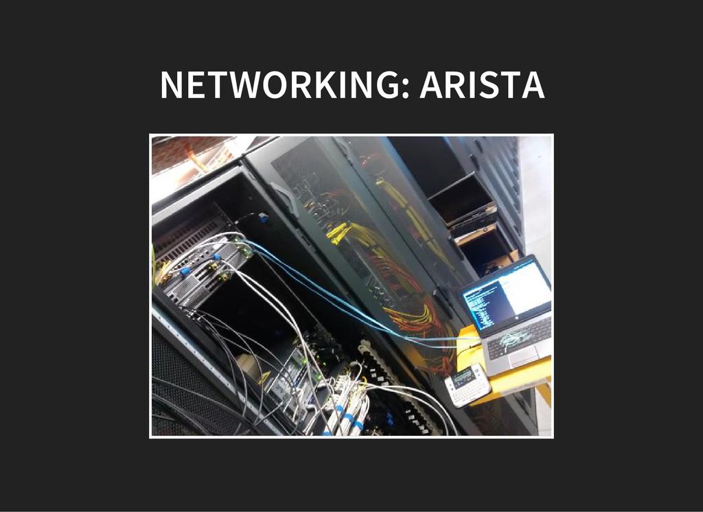 NETWORKING: ARISTA