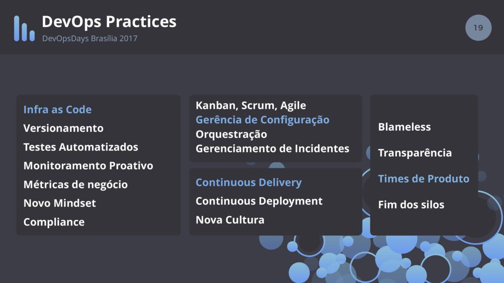 19 DevOps Practices DevOpsDays Brasília 2017 In...
