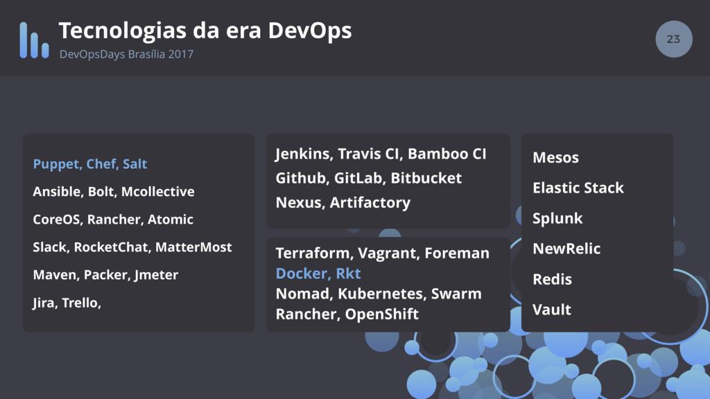 23 Tecnologias da era DevOps DevOpsDays Brasíli...