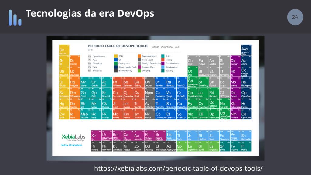 24 Tecnologias da era DevOps https://xebialabs....