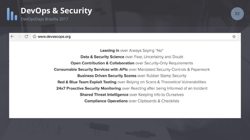 33 DevOps & Security DevOpsDays Brasília 2017