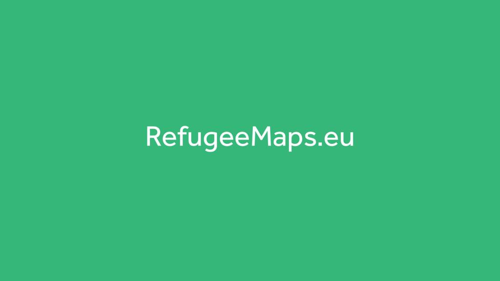 RefugeeMaps.eu