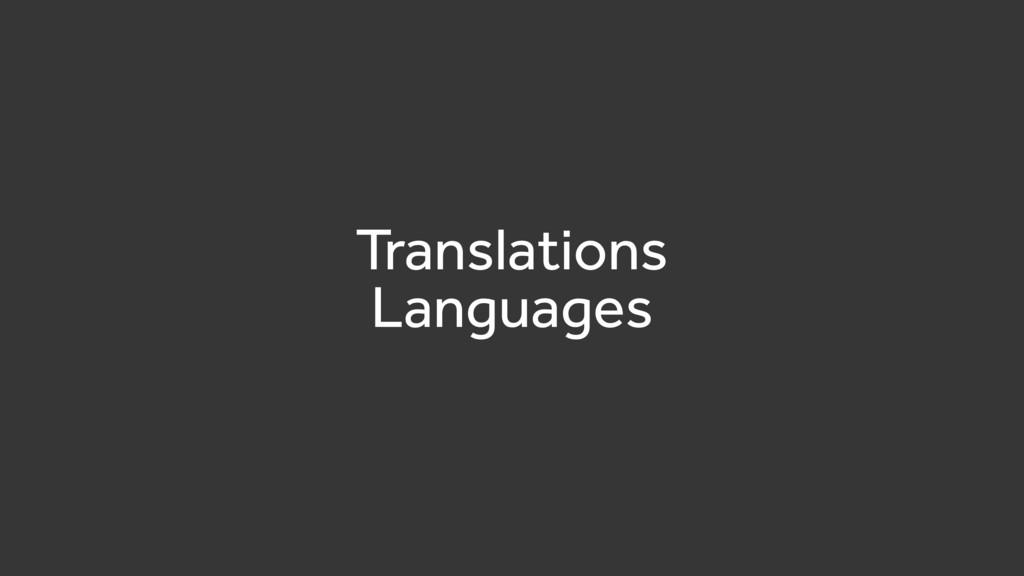 Translations Languages