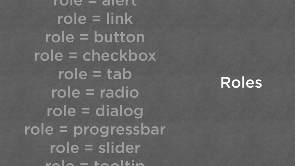 role = alert role = link role = button role = c...