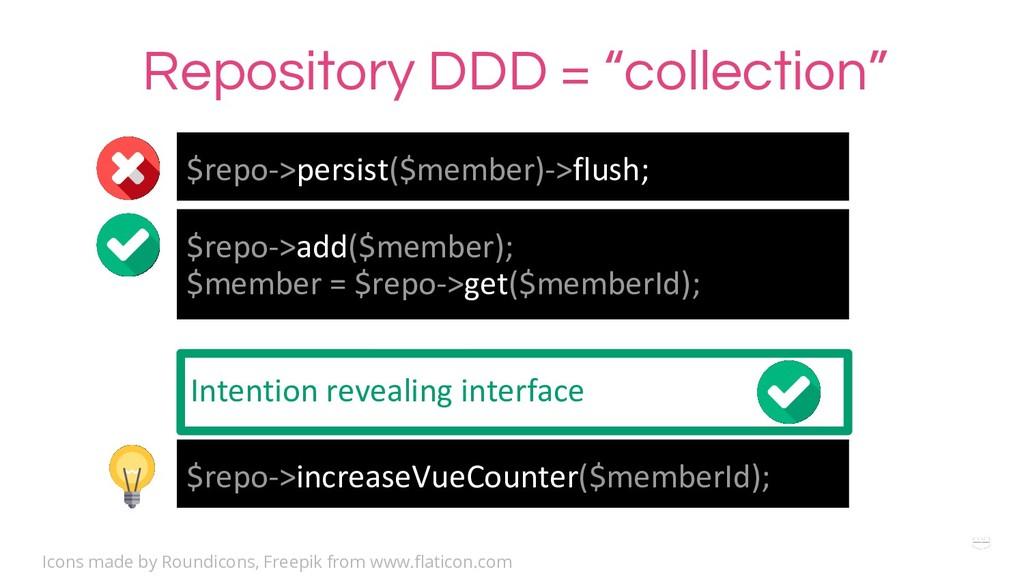 $repo->persist($member)->flush; $repo->add($mem...