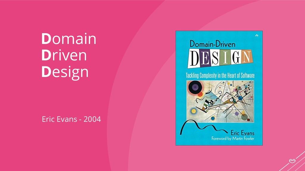 Domain Driven Design Eric Evans - 2004