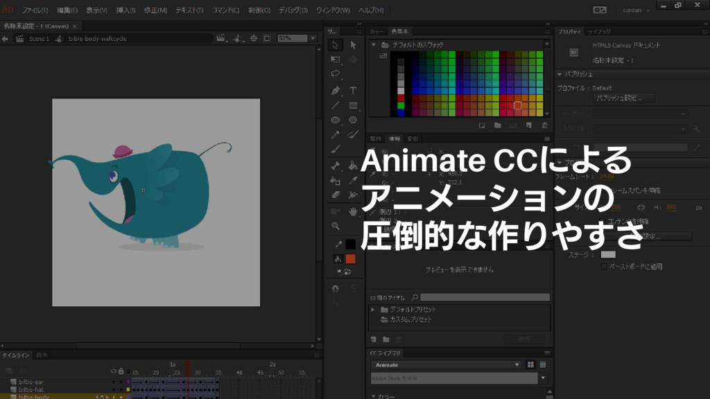 Animate CCによる アニメーションの 圧倒的な作りやすさ