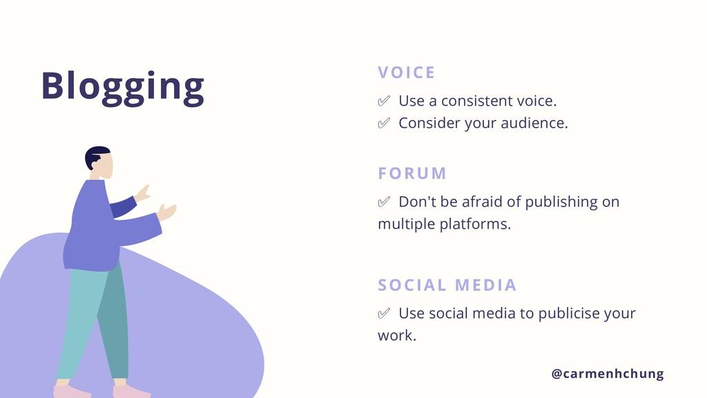 Blogging VOICE ✅ Use a consistent voice. ✅ Cons...