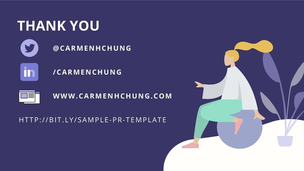 /CARMENCHUNG THANK YOU @CARMENHCHUNG WWW.CARMEN...