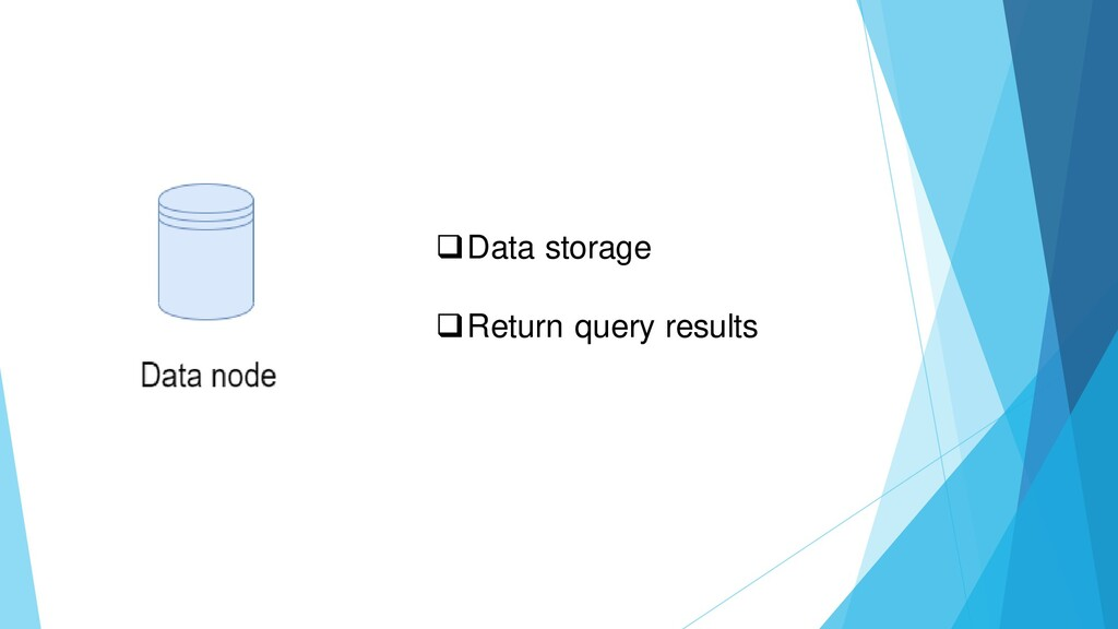 ❑Data storage ❑Return query results