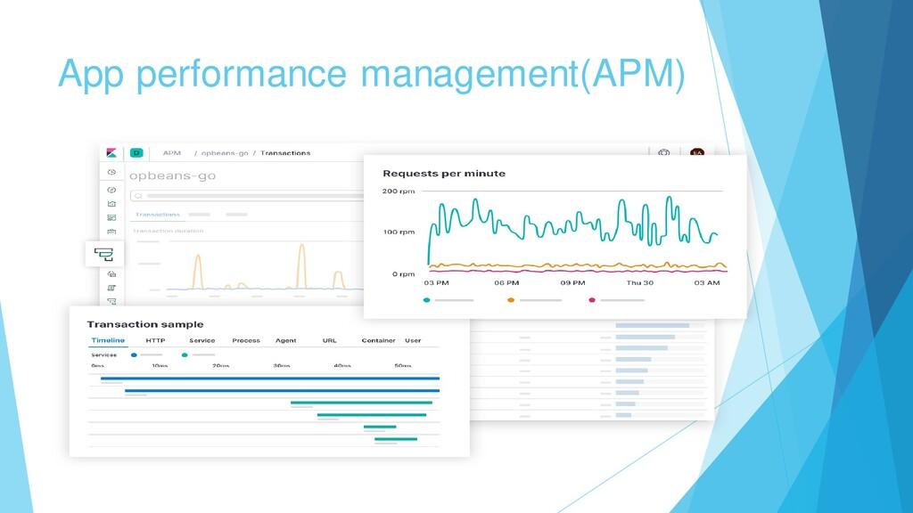App performance management(APM)