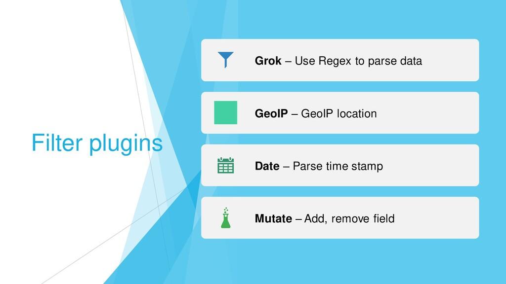 Filter plugins Grok – Use Regex to parse data G...