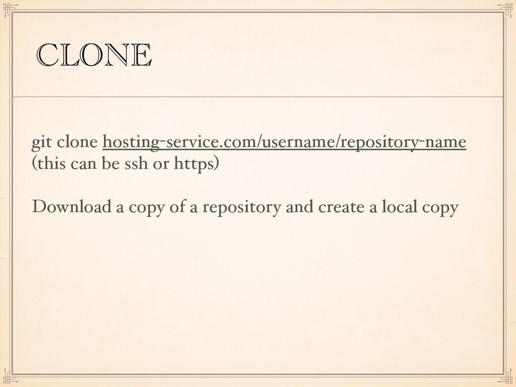 CLONE git clone hosting-service.com/username/re...