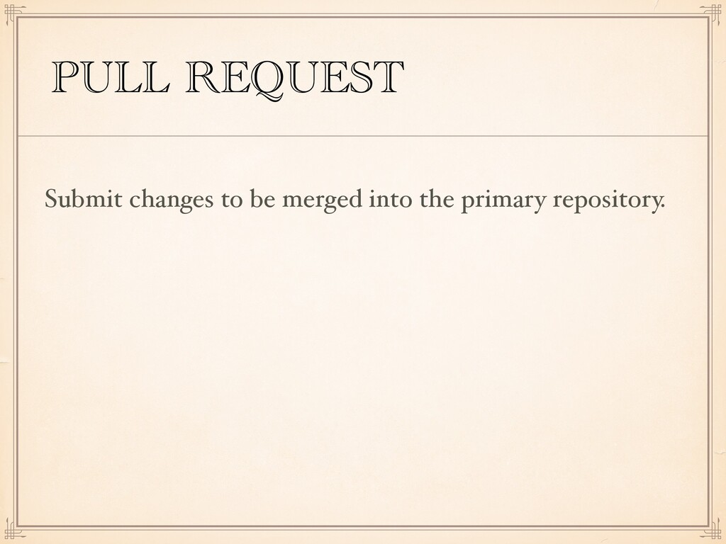 PULL REQUEST Submit changes to be merged into t...