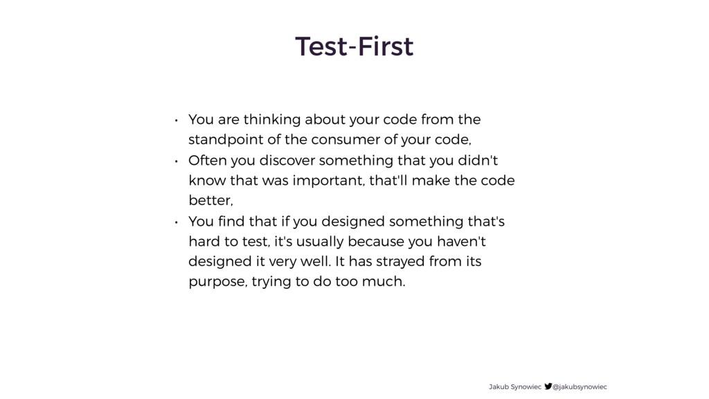 Test-First Jakub Synowiec @jakubsynowiec • You ...