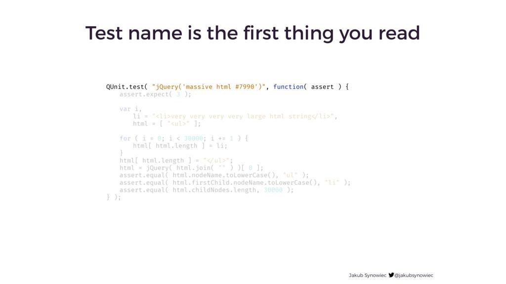 Jakub Synowiec @jakubsynowiec Test name is the ...