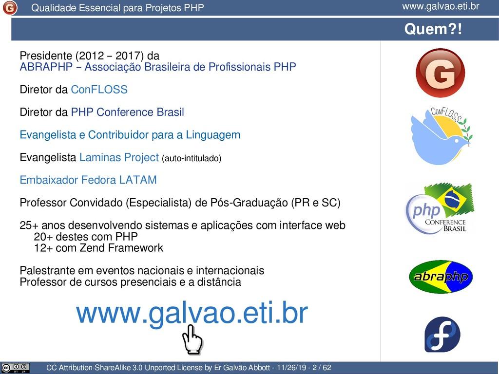 Presidente (2012 – 2017) da ABRAPHP – Associaçã...