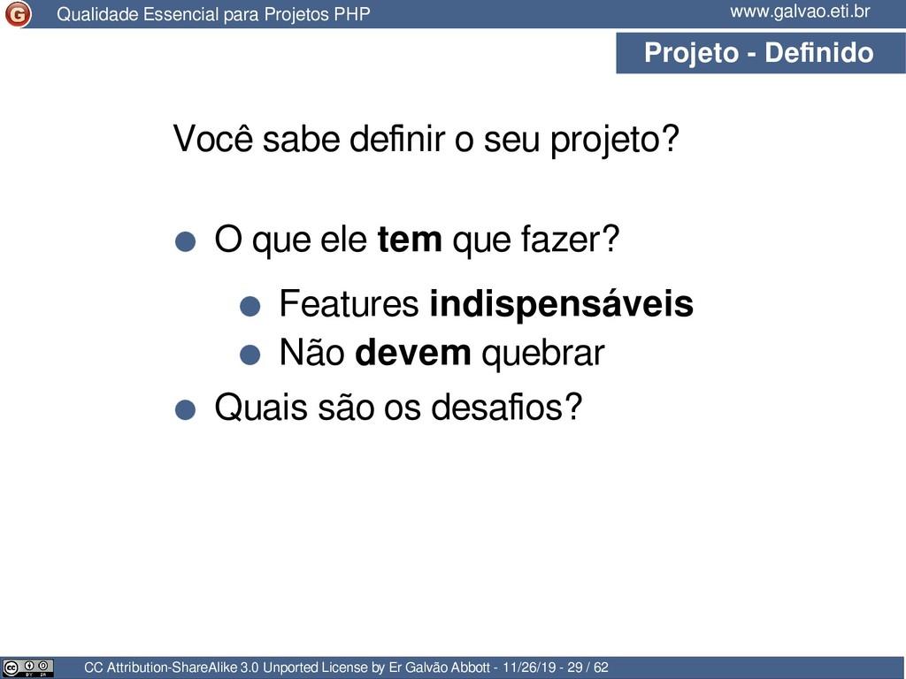 Projeto - Definido CC Attribution-ShareAlike 3....