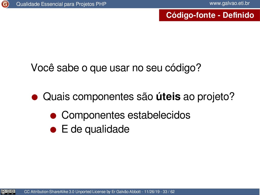 Código-fonte - Definido CC Attribution-ShareAli...